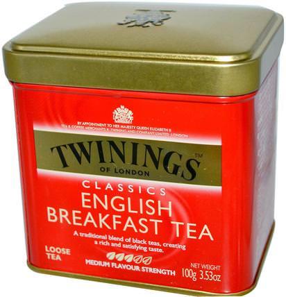 Classics, English Breakfast Loose Tea, 3.53 oz (100 g) by Twinings, 食物,涼茶,英式早餐 HK 香港