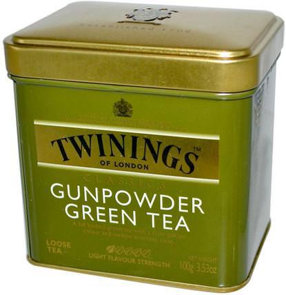 Classics, GunPowder Green Loose Tea, 3.53 oz (100 g) by Twinings, 食物,涼茶,綠茶 HK 香港