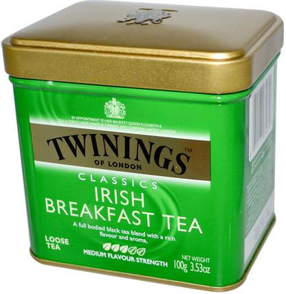 Classics, Irish Breakfast Loose Tea, 3.53 oz (100 g) by Twinings, 食物,涼茶,紅茶 HK 香港
