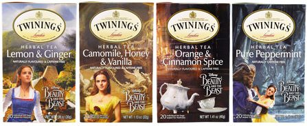 Herbal Tea Variety Pack, Special Edition, Beauty and the Beast, 4 Boxes, 20 Tea Bags Each by Twinings, 食物,涼茶,禮品套裝 HK 香港