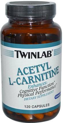 Twinlab, Acetyl L-Carnitine, 120 Capsules 補充劑,氨基酸,左旋肉鹼