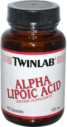 Alpha Lipoic Acid, 100 mg, 60 Capsules by Twinlab, 補充劑,抗氧化劑,α硫辛酸,α硫辛酸100毫克 HK 香港
