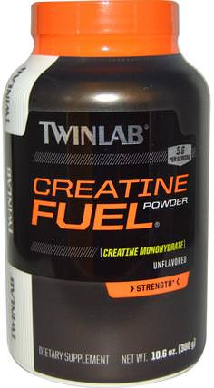 Creatine Fuel Powder, Unflavored, 5 g, 10.6 oz (300 g) by Twinlab, 運動,肌酸粉 HK 香港