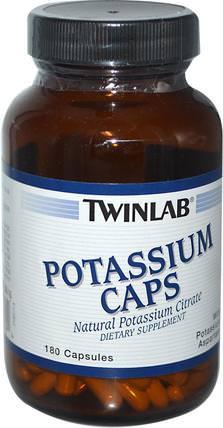 Potassium Caps, 180 Capsules by Twinlab, 補充劑,礦物質,鉀 HK 香港