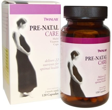 Pre-Natal Care Multi Vitamin Caps, 120 Capsules by Twinlab, 維生素,產前多種維生素,女性 HK 香港