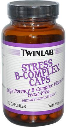 Stress B-Complex Caps, 100 Capsules by Twinlab, 維生素,維生素b,維生素b複合物 HK 香港