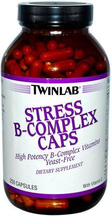 Stress B-Complex Caps, 250 Capsules by Twinlab, 維生素,維生素b,維生素b複合物,b抗應激 HK 香港