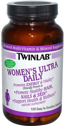 Womens Ultra Daily, 120 Capsules by Twinlab, 維生素,女性多種維生素,女性運動產品 HK 香港