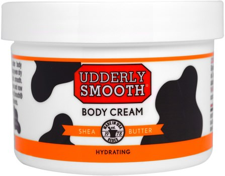 Body Cream, Shea Butter, 8 oz (227 g) by Udderly Smooth, 洗澡,美容,潤膚露,身體護理 HK 香港