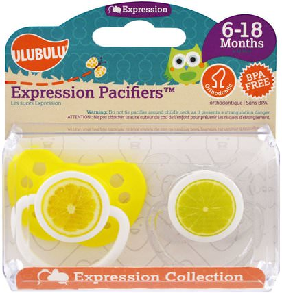 Expression Pacifiers, 6-18 Months, Lemon & Lime, 2 Pacifiers by Ulubulu, 兒童健康,嬰兒,兒童 HK 香港