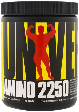 Amino 2250, 100 Tablets by Universal Nutrition, 補充劑,氨基酸,氨基酸組合 HK 香港