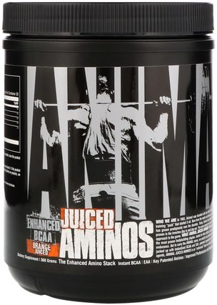 Animal Juiced Aminos, Enhanced BCAA, Orange Juiced, 368 g by Universal Nutrition, bcaa(支鏈氨基酸),運動,鍛煉,運動 HK 香港