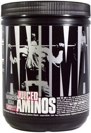 Animal Juiced Aminos, Enhanced BCAA, Strawberry Limeade Flavor, 358 g by Universal Nutrition, bcaa(支鏈氨基酸),運動,鍛煉,運動 HK 香港