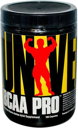 BCAA Pro, Branched-Chain Amino Acid Supplement, 100 Capsules by Universal Nutrition, bcaa(支鏈氨基酸),運動,肌肉 HK 香港