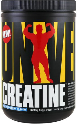 Creatine, Blue Raspberry, 500 g by Universal Nutrition, 運動,肌酸粉 HK 香港