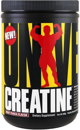 Creatine, Fruit Punch, 500 g by Universal Nutrition, 運動,肌酸粉 HK 香港