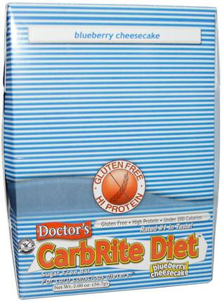Doctors CarbRite Diet, Blueberry Cheesecake, 12 Bars, 2.00 oz (56.7 g) Each by Universal Nutrition, 運動,蛋白質棒 HK 香港