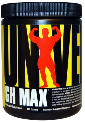 GH Max, GH Support Supplement, 180 Tablets by Universal Nutrition, 合成代謝補品,運動,gh HK 香港