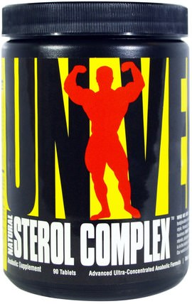 Natural Sterol Complex, Anabolic Sterol Supplement, 90 Tablets by Universal Nutrition, 補充劑,合成代謝補品 HK 香港