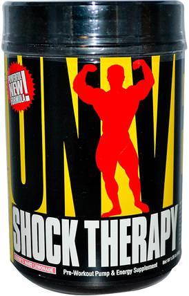 Shock Therapy, Pre-Workout Pump & Energy, Clydes Hard Lemonade, 1.85 lbs (840 g) by Universal Nutrition, 鍛煉,運動,一氧化氮 HK 香港
