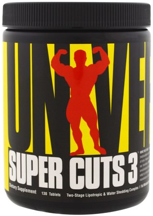 Super Cuts 3, Two-Stage Lipotropic & Diuretic Complex, 130 Tablets by Universal Nutrition, 減肥,飲食,脂肪燃燒器 HK 香港
