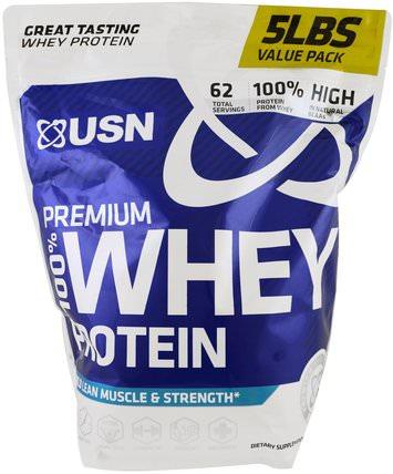 100% Premium Whey Protein, WheyTella, 5 lbs (2.27 kg) by USN, 補充劑,乳清蛋白,運動 HK 香港