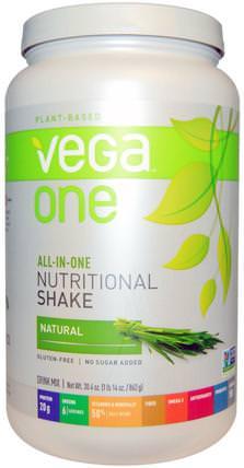 Vega One, All-In-One Nutritional Shake, Natural, 30.4 oz (862 g) by Vega, 補品,超級食品 HK 香港