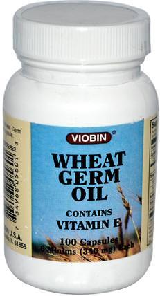 Viobin, Wheat Germ Oil, 340 mg, 100 Capsules 補充劑,小麥胚芽油