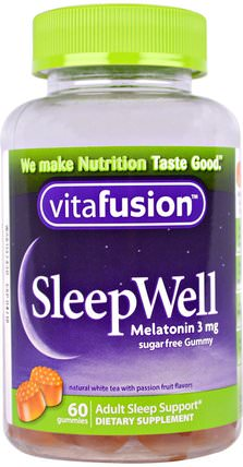 SleepWell, Adult Sleep Support, 60 Gummies by VitaFusion, 補品,gummies HK 香港