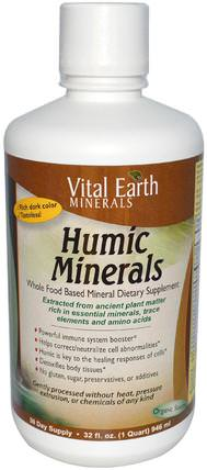 Humic Minerals, 32 fl oz (946 ml) by Vital Earth Minerals, 補品,礦物質,液體礦物質 HK 香港