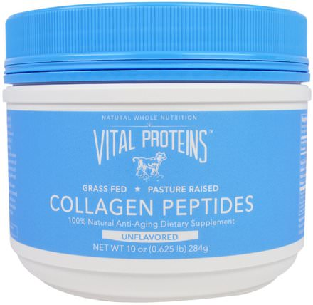Collagen Peptides, Unflavored, 10 oz (284 g) by Vital Proteins, 健康,骨骼,骨質疏鬆症,膠原蛋白,補充劑 HK 香港