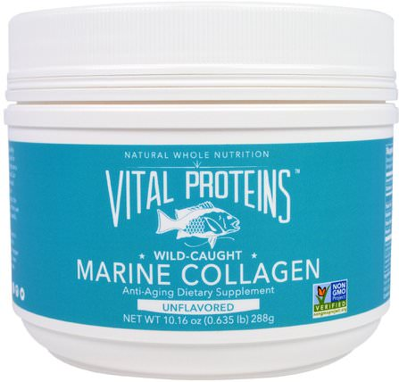 Marine Collagen, Wild Caught, Unflavored, 10.16 oz (288 g) by Vital Proteins, 健康,骨骼,骨質疏鬆症,膠原蛋白,補充劑 HK 香港