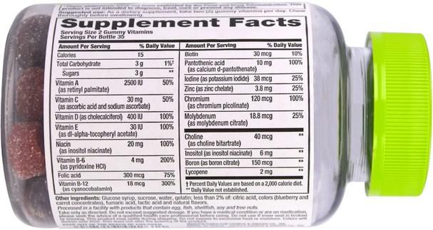 維生素,男性多種維生素,gummies - VitaFusion, Mens Complete Multivitamin, Natural Berry Flavors, 70 Gummies