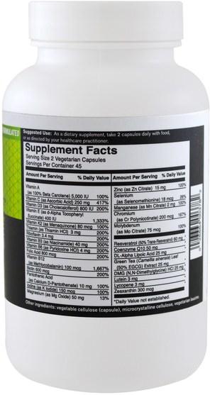 維生素,多種維生素 - FoodScience, Gluten Free Multivitamin, 90 Capsules