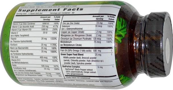 維生素,多種維生素 - Irwin Naturals, Only One, Liquid-Gel Multi, With Iron, 60 Liquid Soft-Gels