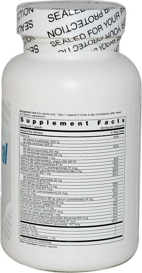維生素,多種維生素 - Life Enhancement, One-Per-Meal Radical Shield, 84 Capsules