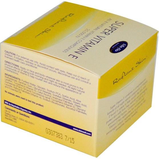 維生素,維生素E,面部護理,面霜,乳液 - Life Flo Health, Radiant Skin, Super Vitamin E, 25.000 IU, 1.7 oz (48 g)
