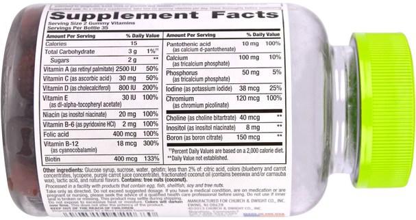 維生素,女性多種維生素,gummies - VitaFusion, Womens Complete Multivitamin, Natural Berry Flavors, 70 Gummies