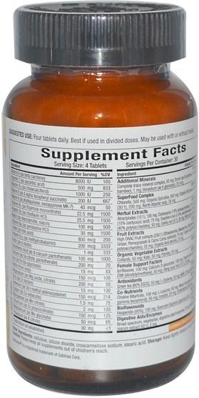 維生素,女性多種維生素 - Pure Essence, LifeEssence, The Master Multiple, Womens Formula, 120 Tablets