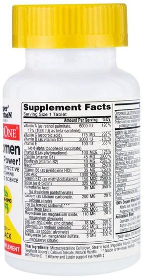維生素,女性多種維生素 - Super Nutrition, SimplyOne, 50+ Women, Triple Power Multivitamins, 30 Tablets