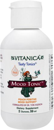 Mood Tonic, Peach Flavor, 2 oz (59 ml) by Vitanica, 健康,抗壓情緒支持 HK 香港