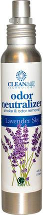 CleanAir Technology, Odor Neutralizer, Lavender Sky, 4 fl oz (118 ml) by Way Out Wax, 家裡,空氣清新劑除臭劑 HK 香港