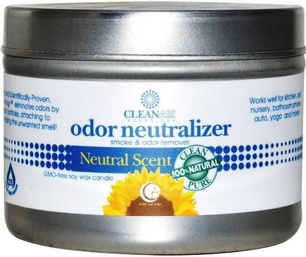 Odor Neutralizer Candle, Natural Scent, 3 oz (85 g) by Way Out Wax, 家,空氣清新劑除臭劑,浴,蠟燭 HK 香港