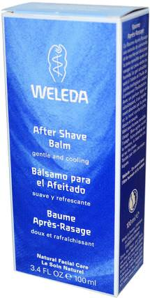 After Shave Balm, 3.4 fl oz (100 ml) by Weleda, 洗澡,美容,剃須,剃須後 HK 香港