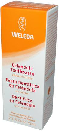 Calendula Toothpaste, Peppermint-Free, 2.5 fl oz (75 ml) by Weleda, 洗澡,美容,牙膏,面部護理,曬傷防曬,金盞花 HK 香港