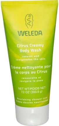 Citrus Creamy Body Wash, 7.2 oz (203.6 g) by Weleda, 洗澡,美容,沐浴露 HK 香港