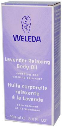 Relaxing Body Oil, Lavender, 3.4 fl oz (100 ml) by Weleda, 健康,皮膚,按摩油,身體護理油 HK 香港