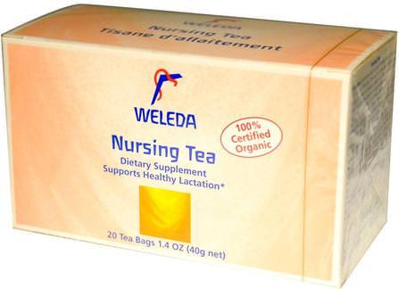 Nursing Tea, 20 Tea Bags, 1.4 oz (40 g) by Weleda, 食物,涼茶 HK 香港