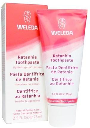 Ratanhia Toothpaste, 2.5 fl oz (75 ml) by Weleda, 洗澡,美容,牙膏 HK 香港