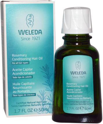Rosemary Conditioning Hair Oil, 1.7 fl oz (50 ml) by Weleda, 洗澡,美容,頭髮,頭皮 HK 香港